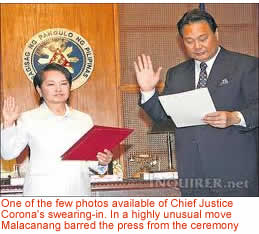 Philnews.com GMA swearing-in his formeer chief of staff and executive secretary.
