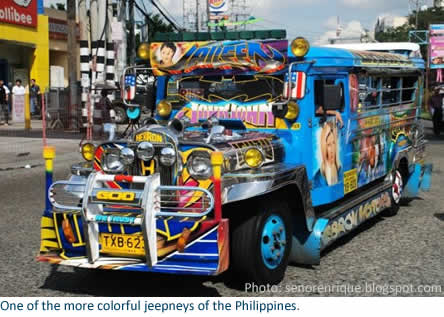One of the more colorful jeepneys of the Philippines