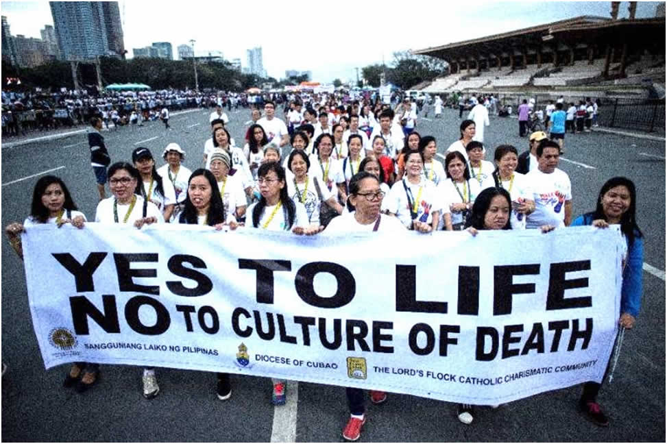 Filipinos march for life.